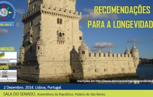 RECOMENDAÇÕES PARA A LONGEVIDADE Portugal 2014