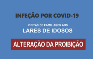 COVID 19 – VISITAS DE FAMILIARES AOS LARES DE IDOSOS
